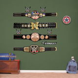 WWE Title Belts Collection Wall Decal