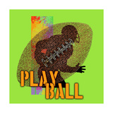 Play Ball - Football Poster by Jim Baldwin