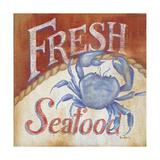 Fresh Seafood Premium Giclee Print by Kim Lewis