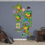 Classic Teenage Mutant Ninja Turtles - Turtle Power Collection Wall Decal