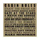 Cabin Rules Posters by Jim Baldwin