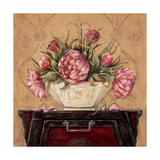 Zen Peonies Prints by Jo Moulton