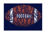 Football Print by Jim Baldwin