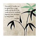 Glück, Englisch Poster von Linda Woods