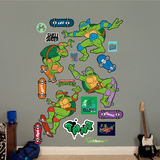 Classic Teenage Mutant Ninja Turtles - Skateboarding Collection Wall Decal