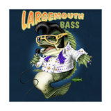 Largemouth Bass Art by Jim Baldwin