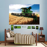 John Deere Combine Mural Wall Decal