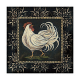Black and White Rooster II Art by Jo Moulton