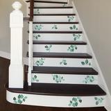 Martha Stewart Living Leaf Print Accents Jade Green Transfer Wall Decal