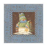 Blue Tin Snowman Prints by Jo Moulton
