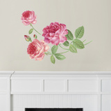 Martha Stewart Living Hand-Painted Roses Transfer Wall Decal