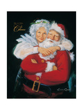 Mr. and Mrs. Claus Posters by Susan Comish