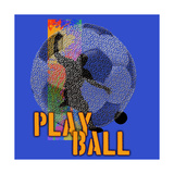 Play Ball - Soccer Premium Giclee Print by Jim Baldwin