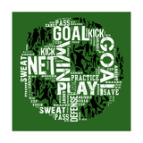 Soccer (Green) Prints by Jim Baldwin