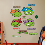 Classic Teenage Mutant Ninja Turtles - Faces Collection Wall Decal