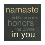Namaste Kunstdruck von Linda Woods