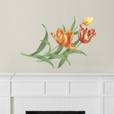 Martha Stewart Living Hand-Painted Tulips Transfer Wall Decal