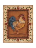 Gold Rooster Poster by Kim Lewis