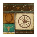 Western Wheel Print by Jennifer Pugh