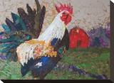Au Chant Du Coq Stretched Canvas Print