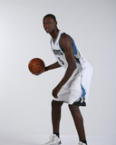 Minnesota Timberwolves 2013 NBA Draft Picks Shabazz Muhammad and Gorgui Dieng Portraits Photo by David Sherman