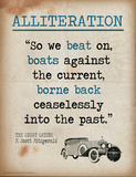 Alliteration (Quote from The Great Gatsby by F. Scott Fitzgerald) Láminas por Jeanne Stevenson