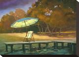 Evening Swim I Stretched Canvas Print