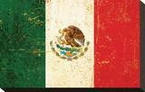 Mexican Flag Reproducción en lienzo de la lámina