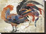 Fancy Rooster Stretched Canvas Print