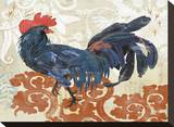 French Rooster Stretched Canvas Print