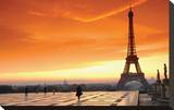 Paris at Dawn Stretched Canvas Print