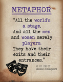 Metaphor (Quote from As You Like It by William Shakespeare) Posters by Jeanne Stevenson