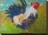 Report Card Rooster Stretched Canvas Print