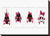 Sugar Skulls Box of 4 Stretched Canvas Print by Rosa Mesa