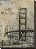 San Francisco Stretched Canvas Print