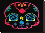 Sugar Skull Velvet III Stretched Canvas Print by Rosa Mesa