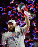 Julian Edelman with the Vince Lombardi Trophy Super Bowl XLIX Photo