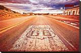 US Route 66 Stretched Canvas Print