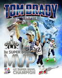 Tom Brady Super Bowl XLIX MVP Portrait Plus Photo