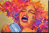 Soul Singer Stretched Canvas Print