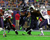 Marshawn Lynch Super Bowl XLIX Action Photo