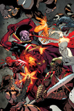 All-New X-Men No. 24: Cyclops, Gladiator, Iceman, Rocket Raccoon, Beast, Drax, Gamora Print