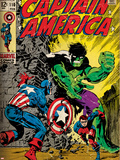 Marvel Comics Retro Style Guide: Captain America, Bucky, Hulk Posters