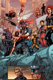 Avengers No. 15: Captain America, Black Widow, Hawkeye, Wolverine, Cannonball, Thor, Spider-Man Posters