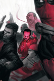 Thunderbolts No. 5: Leader, Punisher, Red Hulk, Elektra Prints