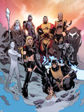 All-New X-Men No. 17: Sentinel, Colossus, Kymera, Iceman, Jubilee, Magik, Beast, Phoenix Photographie