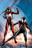 Ultimate Comics Spider-Man No. 17: Spider-Man, Spider Woman Poster