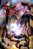 Avengers No. 34: Iron Man, Spider-Man, Red Hulk, Wonder Man, Wolverine Prints