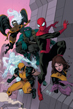 Avenging Spider-Man No. 16: Spider-Man, Storm, Beast, Iceman, Wolverine, Shadowcat, Lockheed Posters