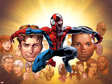 Ultimate Spider-Man No. 200: Spider-Man, Mary Jane, Stacy, Gwen, Captain America, Green Goblin Photo